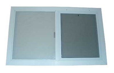 exterior white painted aluminum window