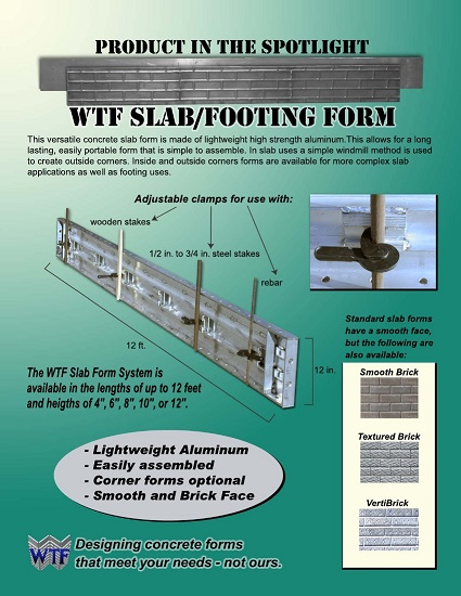 Slab Footing Forms Information