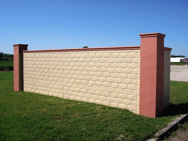 block concrete wall