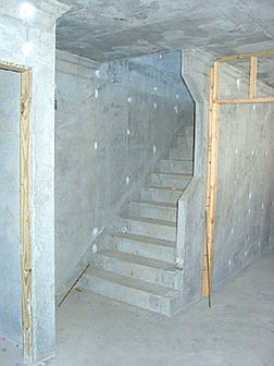 Raw Concrete Stairs