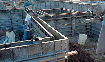 Concrete foundation formwork for Basement wall forms
