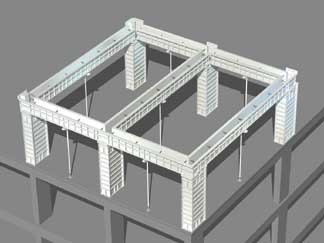 Formwork Beams w/ Drop Head Jack Post