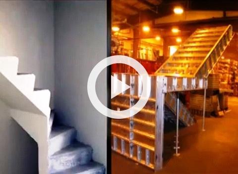 Cimbras formaletas formas encofrados moldes moldajes for Formas de escaleras de concreto