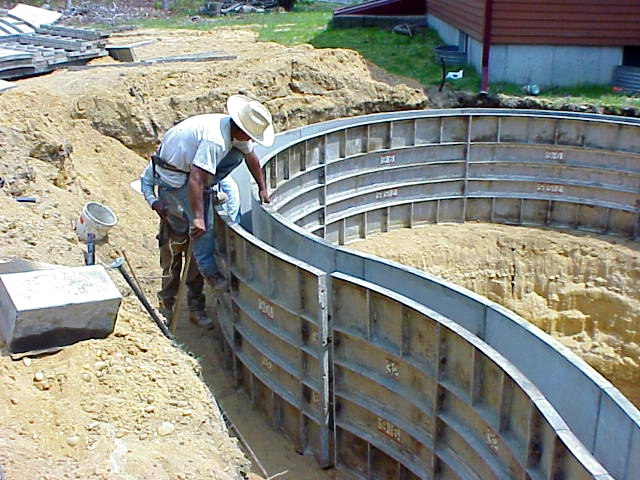 Swimming pool construction products for Swimming pool construction