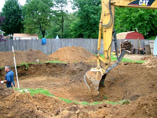 All Concrete Swimming Pool Construction Process Excavation And Exterior Forming