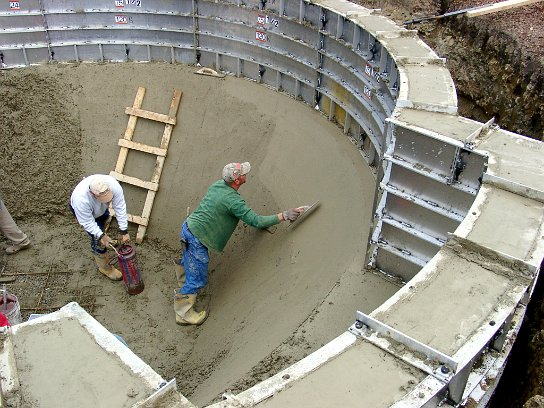 All concrete swimming pool construction process for Concrete swimming pool